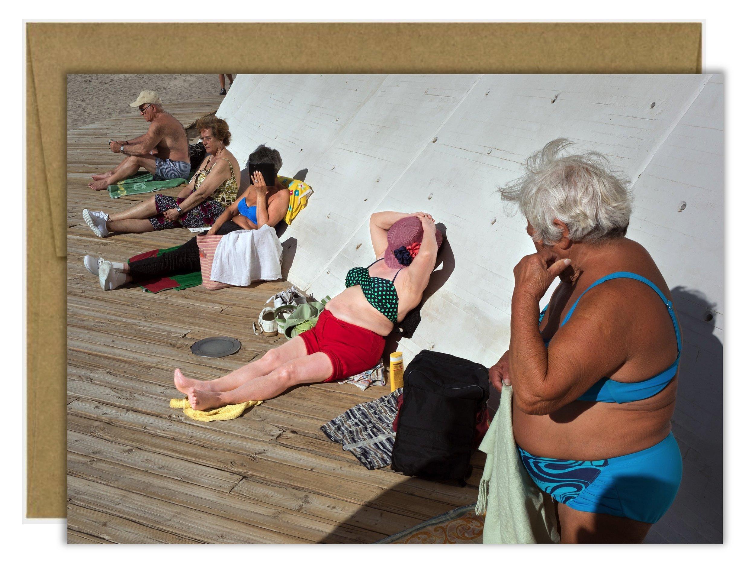 Peter Cool Sunbathing Greeting Card.jpg