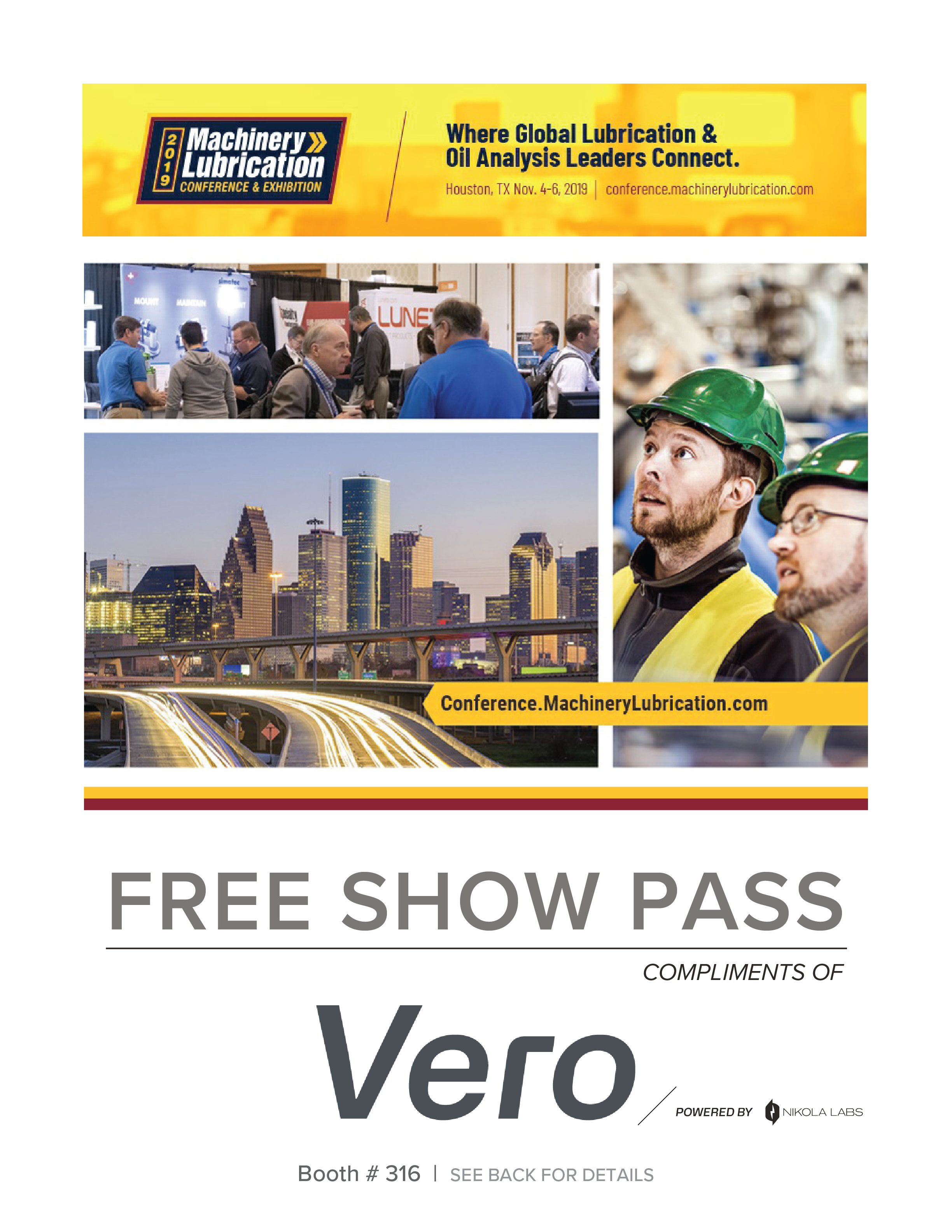 Machinery Lubrication Show Pass