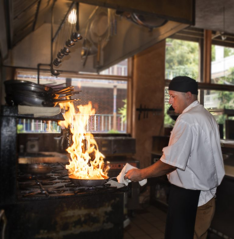 The Grand Taverne Kitchen at the Grand Central Hotel is on fire!