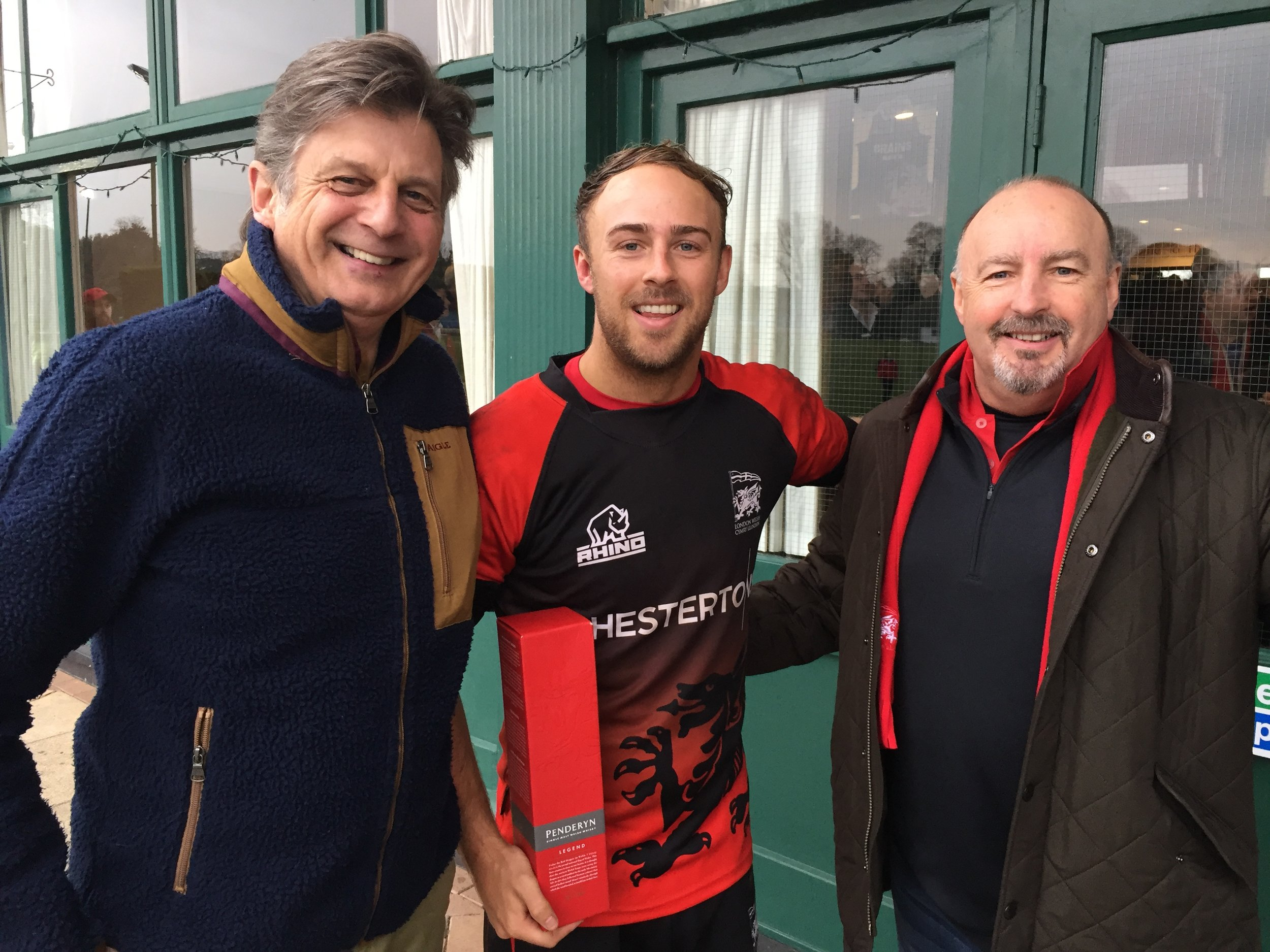 London Welsh Rugby Club. - Paul and Rhys Howells of the Eteach Group support their community club.