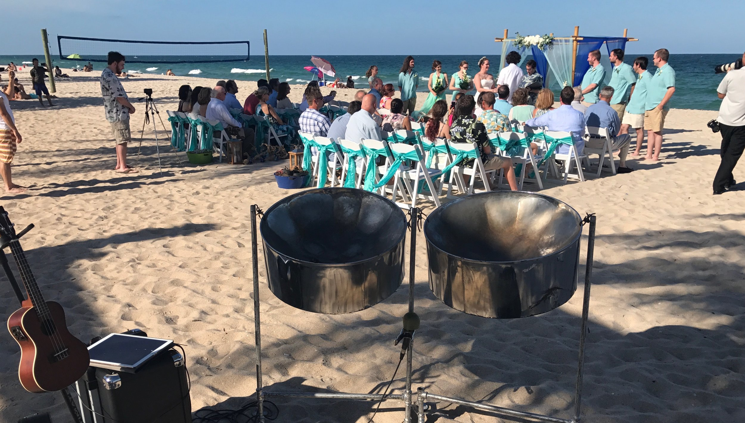 Your Beach Wedding with Live Steel Pans, Ukulele, Flute and More!