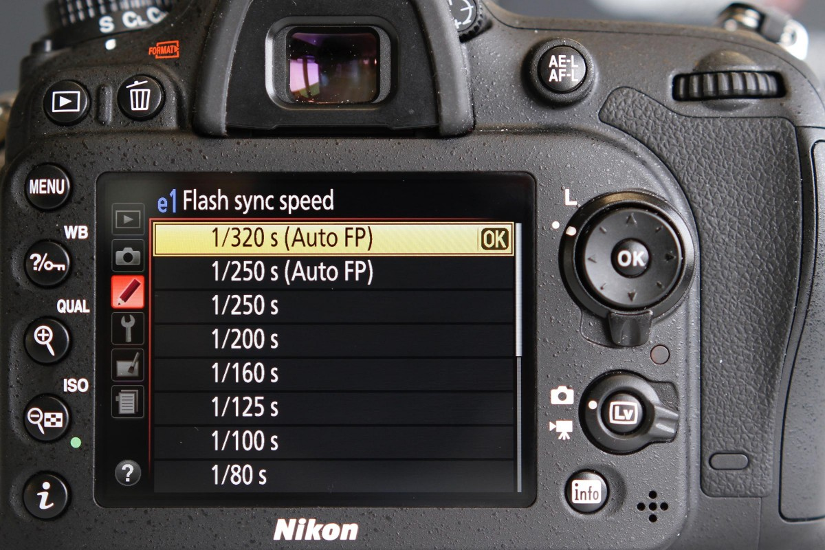 Set your Nikon camera in Auto FP flash mode.