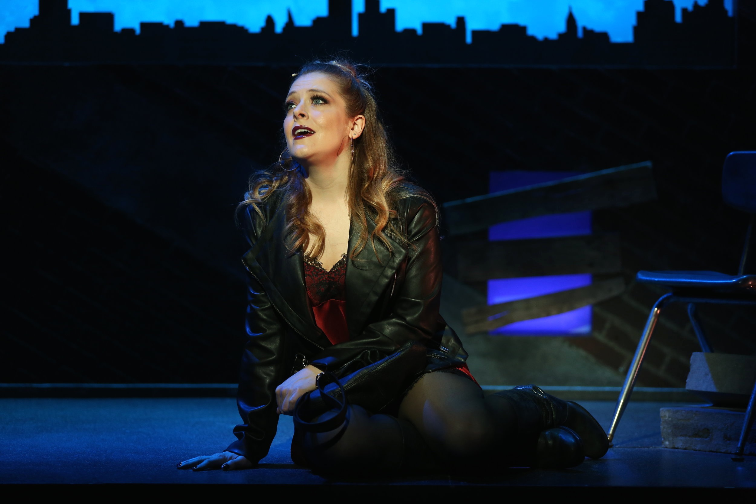 Emily Afton in Midnight Street Off-Broadway