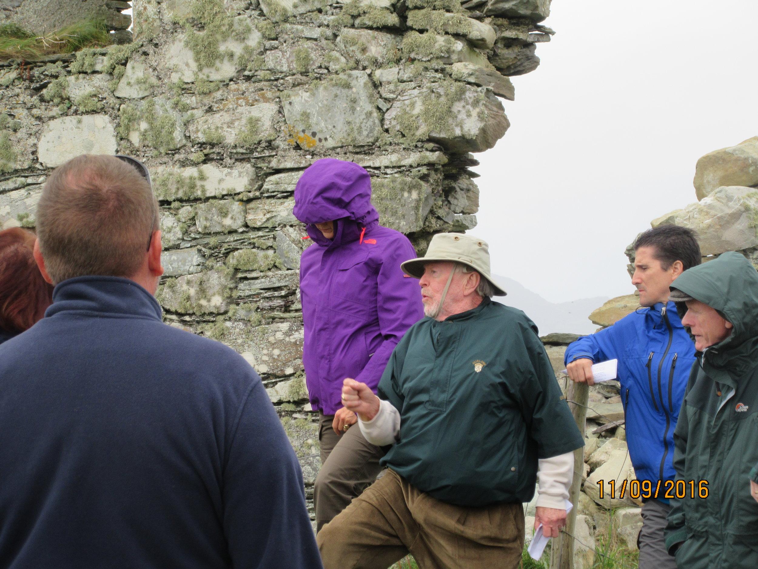 Thomas R. Crowley speaking at the Kilcatherine Graveyard. Crowley Gathering, September 2016.