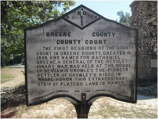 Green County Court Historical Plaque