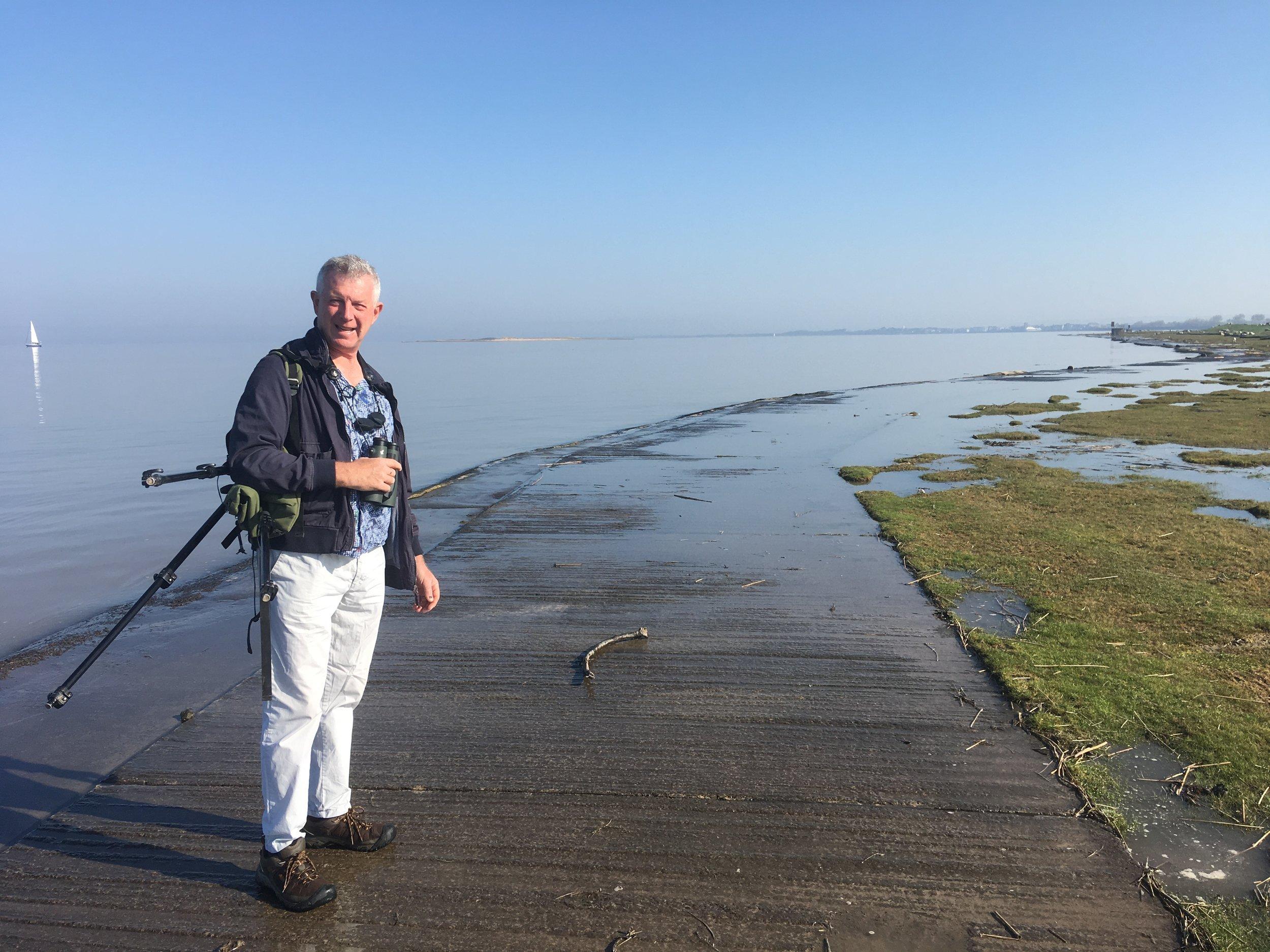 Stephen enjoying the high tide