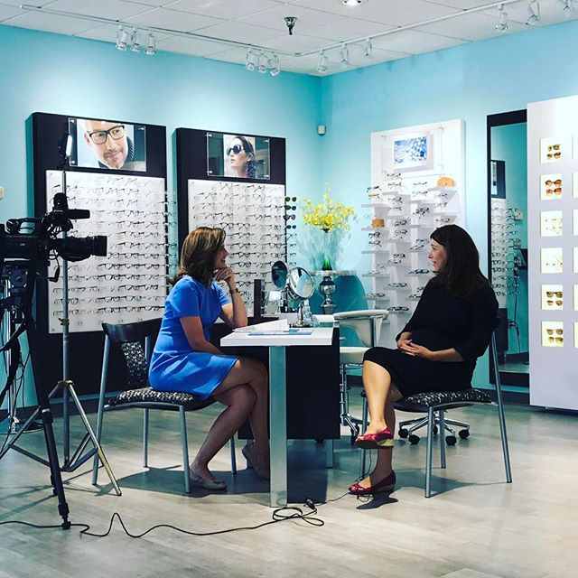 TOMORROW! Tune into @abc7dc tomorrow at the 5pm Evening News to watch #alisonstarling #workingwoman feature on Dr. Hannah! #momlife #inspiring #eyedoctor