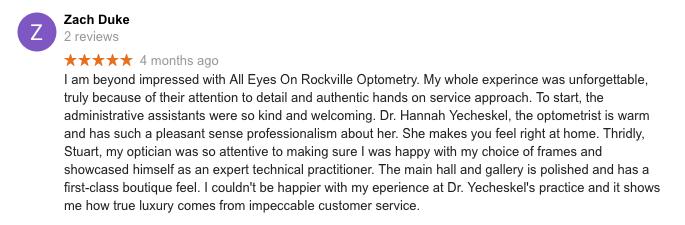 Best Eye Doctor in Rockville Review