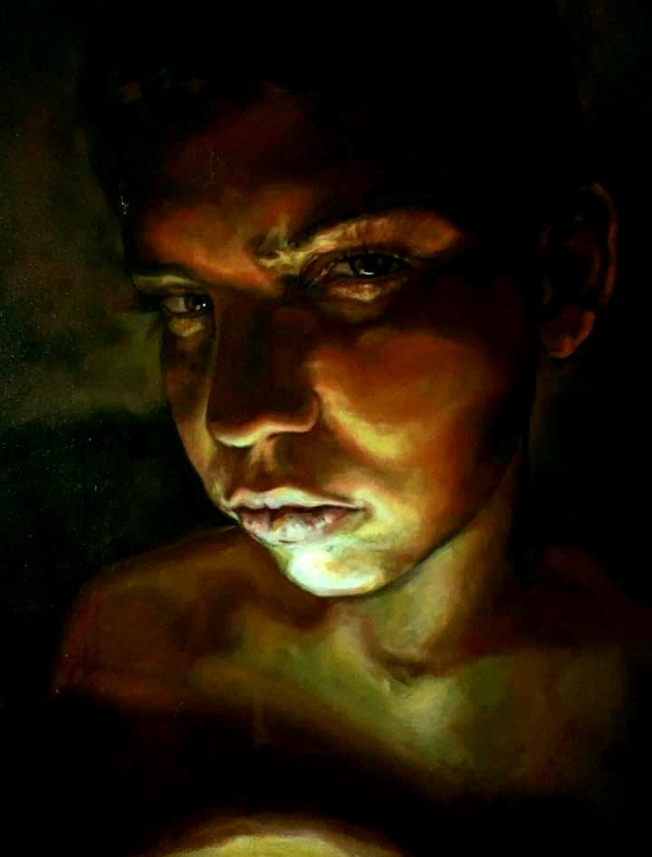 Study of My Brother - Oil on canvas46