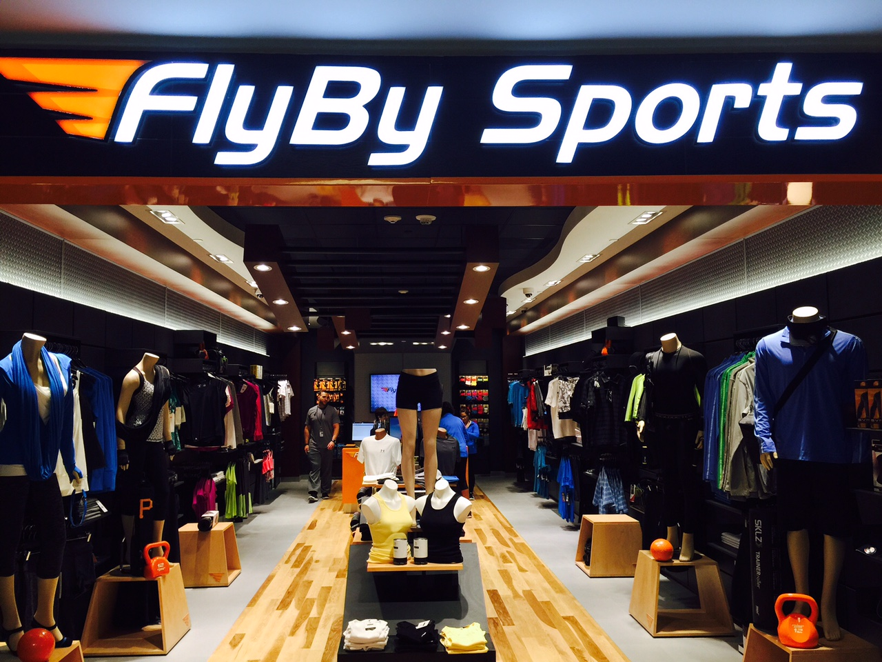 Wood Pattern interior for Fly by sports is powder coated metal.