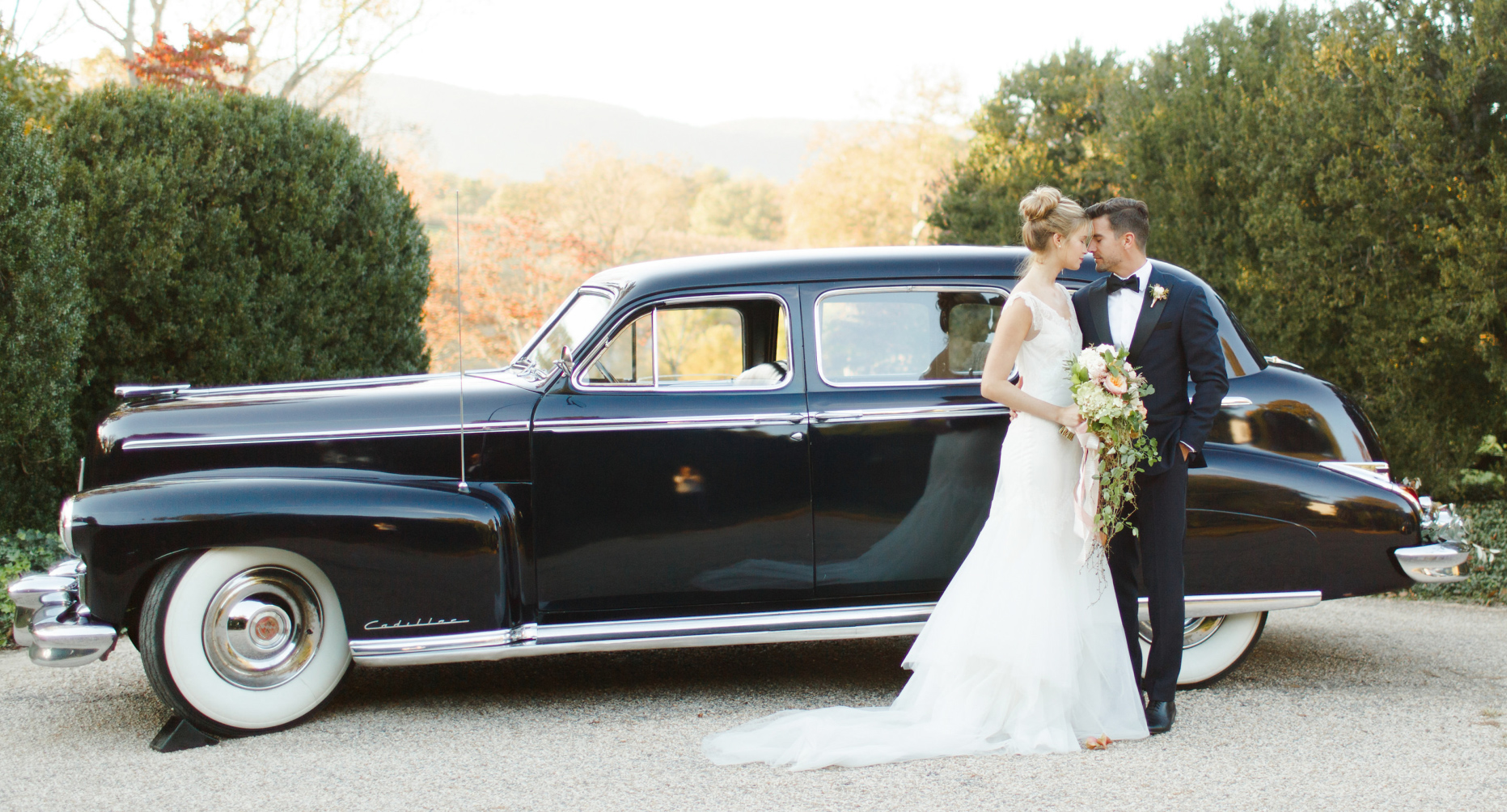 Wedding Transportation - Guests, bridal party, VIPs and couples get-aways and antique limousines.
