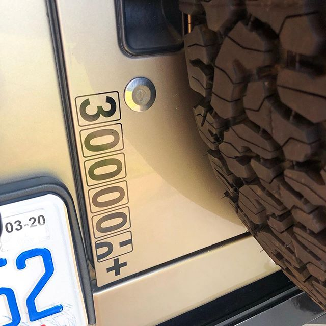 The Rubicon earned a new sticker. . . . . . #Jeep #Rubicon #wranglerlj #olereliable