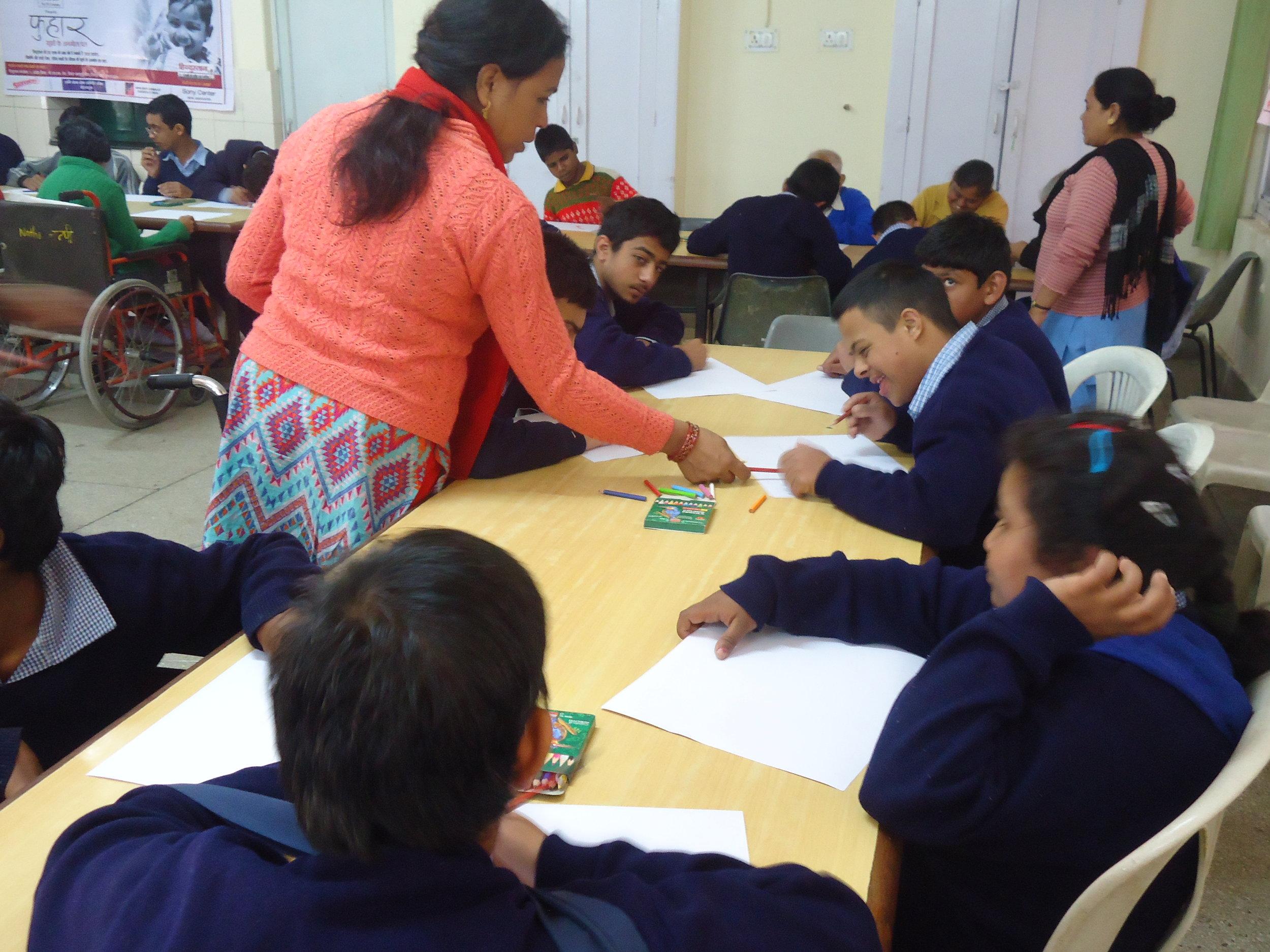 Chidlren doing activity in the classroom.JPG