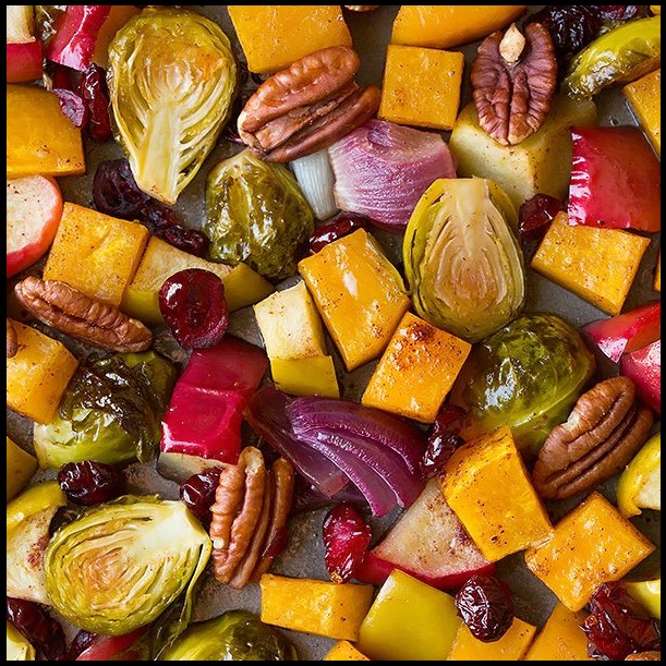 Autumnal veggies by CookingClassy.com