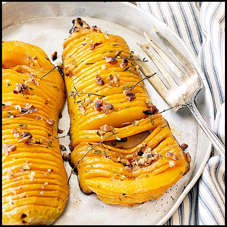 Maple pecans butternut squash