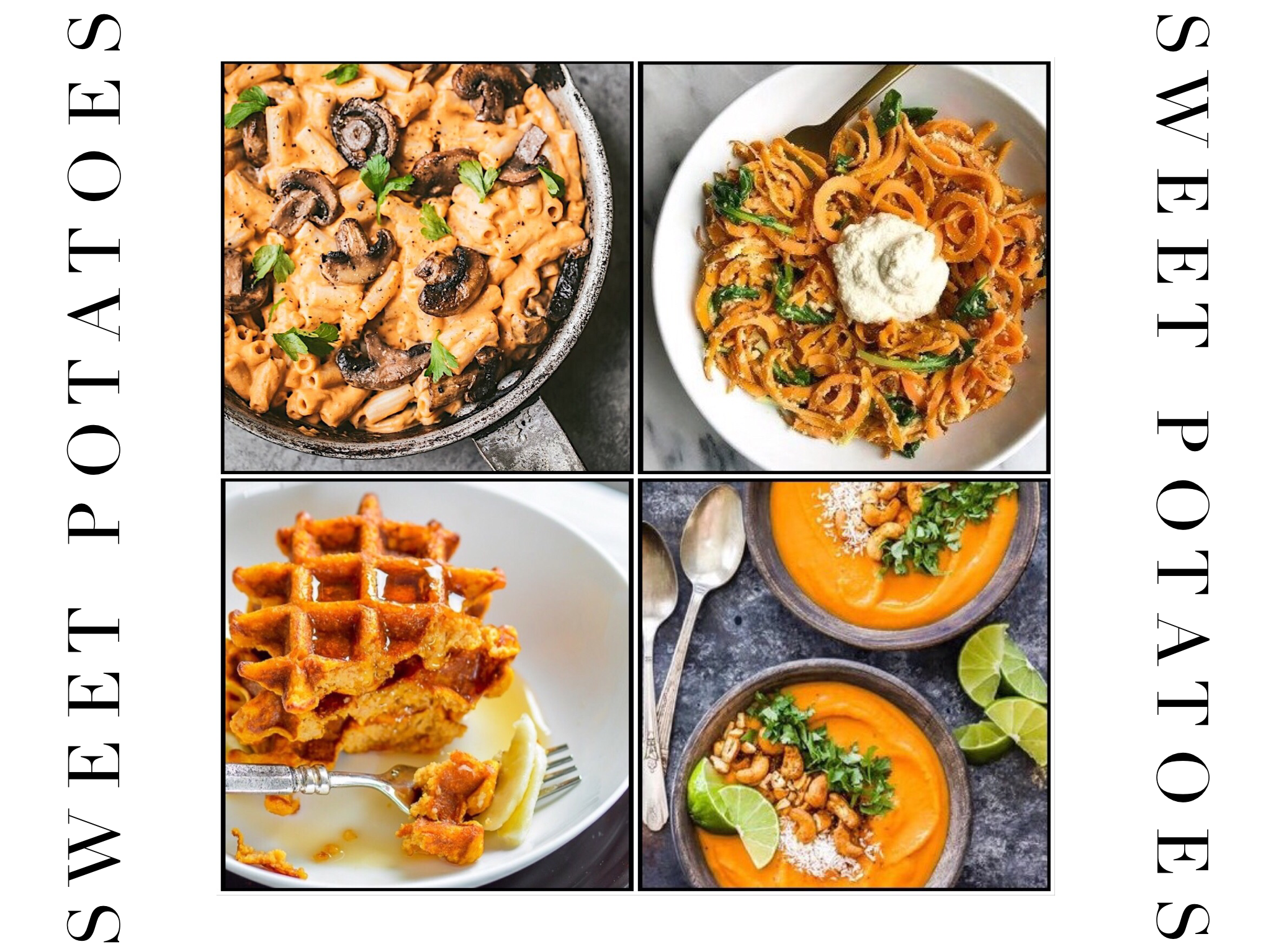 Sweet Potatoes - Sweet potatoes hit their peak just as the weather starts to cool, so they are rich in flavor and nutrition in autumn. It's a little similar to the pumpkins, very healthy, and can easily be turned into a sweet treat or a warming meal.