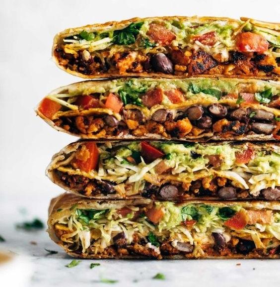 Vegan Crunchwrap Supreme by Pinch Of Yum