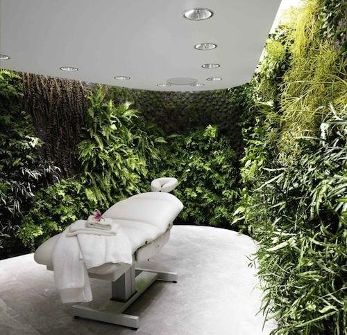 Qantas First Lounge Spa via Condé NastTraveler