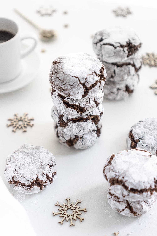 Vegan Chocolate Amaretti Cookies    by    Gathering Dreams