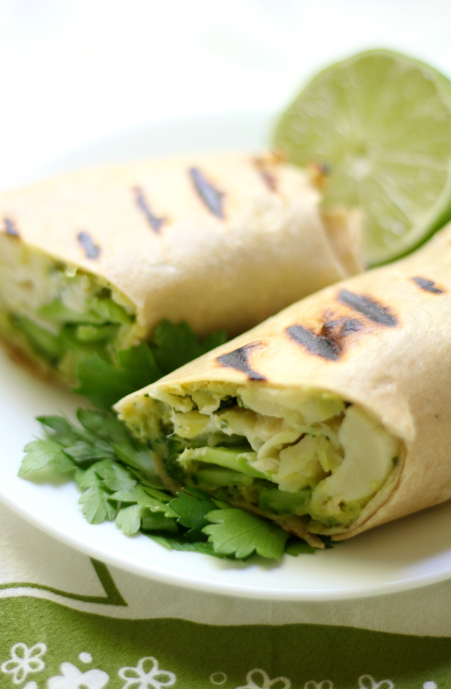 Grilled Green Goddess Wraps