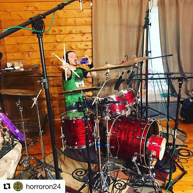 @everytimeijedi is a beast on the kit! Repost @horroron24 with @get_repost ・・・ Drum day at @stonecreeksound . . . . . #bandlife #studio #drums #drumday #click #sametal #satx #horroron24 #work #bandflow