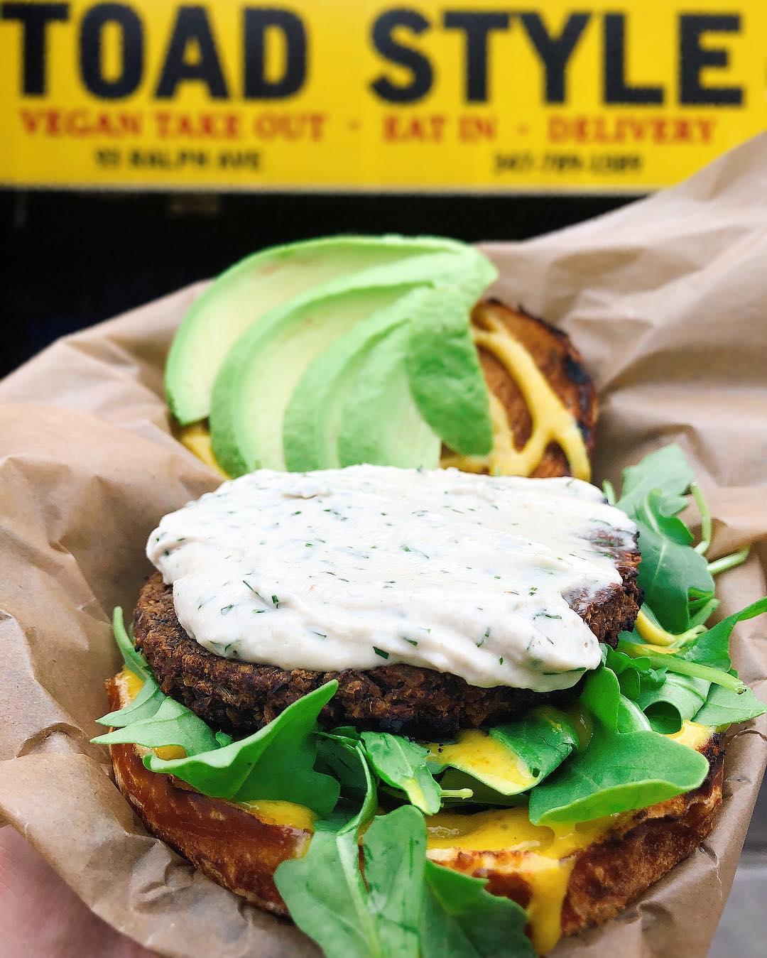The Sunshine Burger. Photo courtesy of  Toad Style