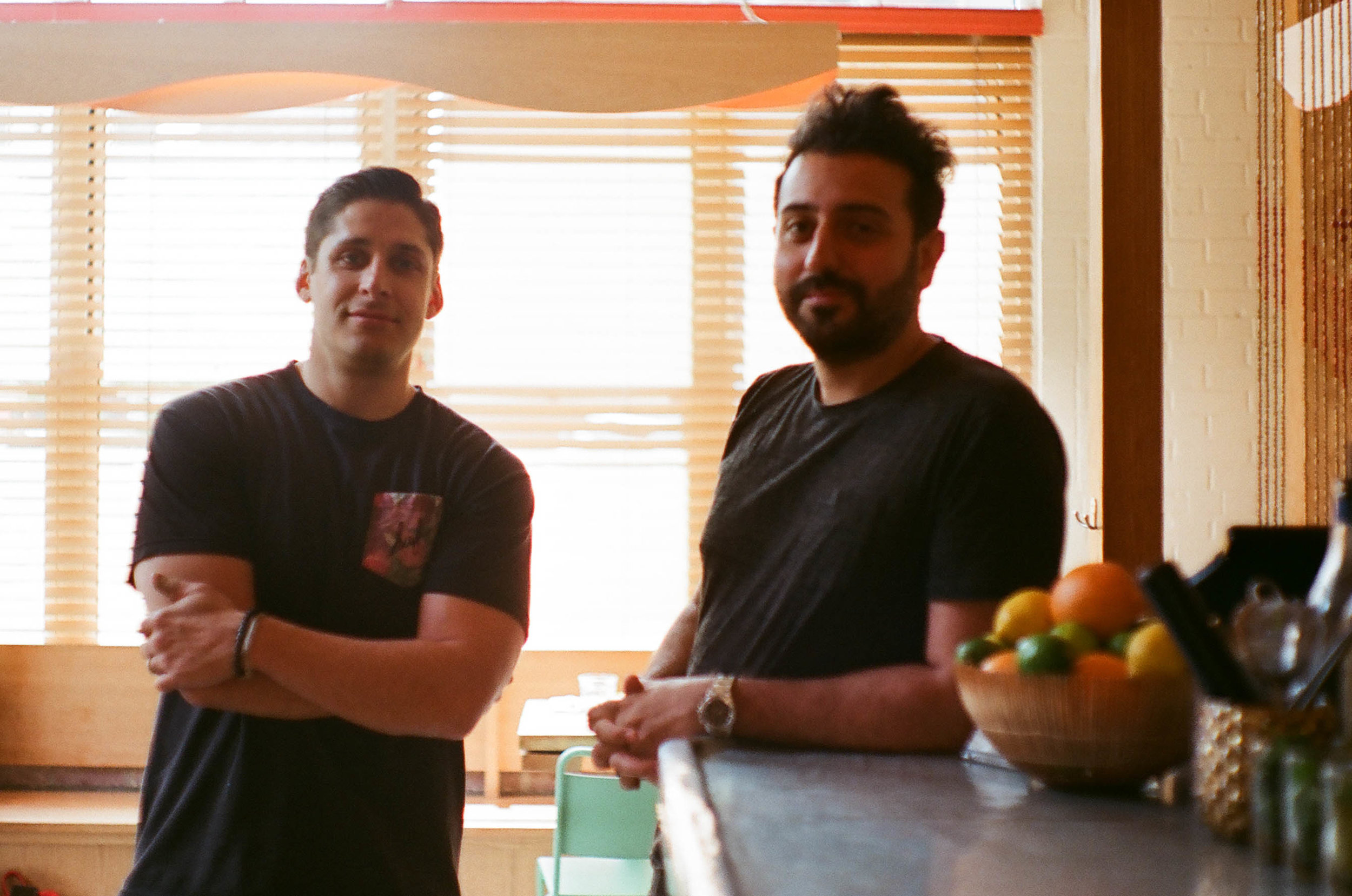 the owners, Koorosh Bakhtiar & Nima Garos