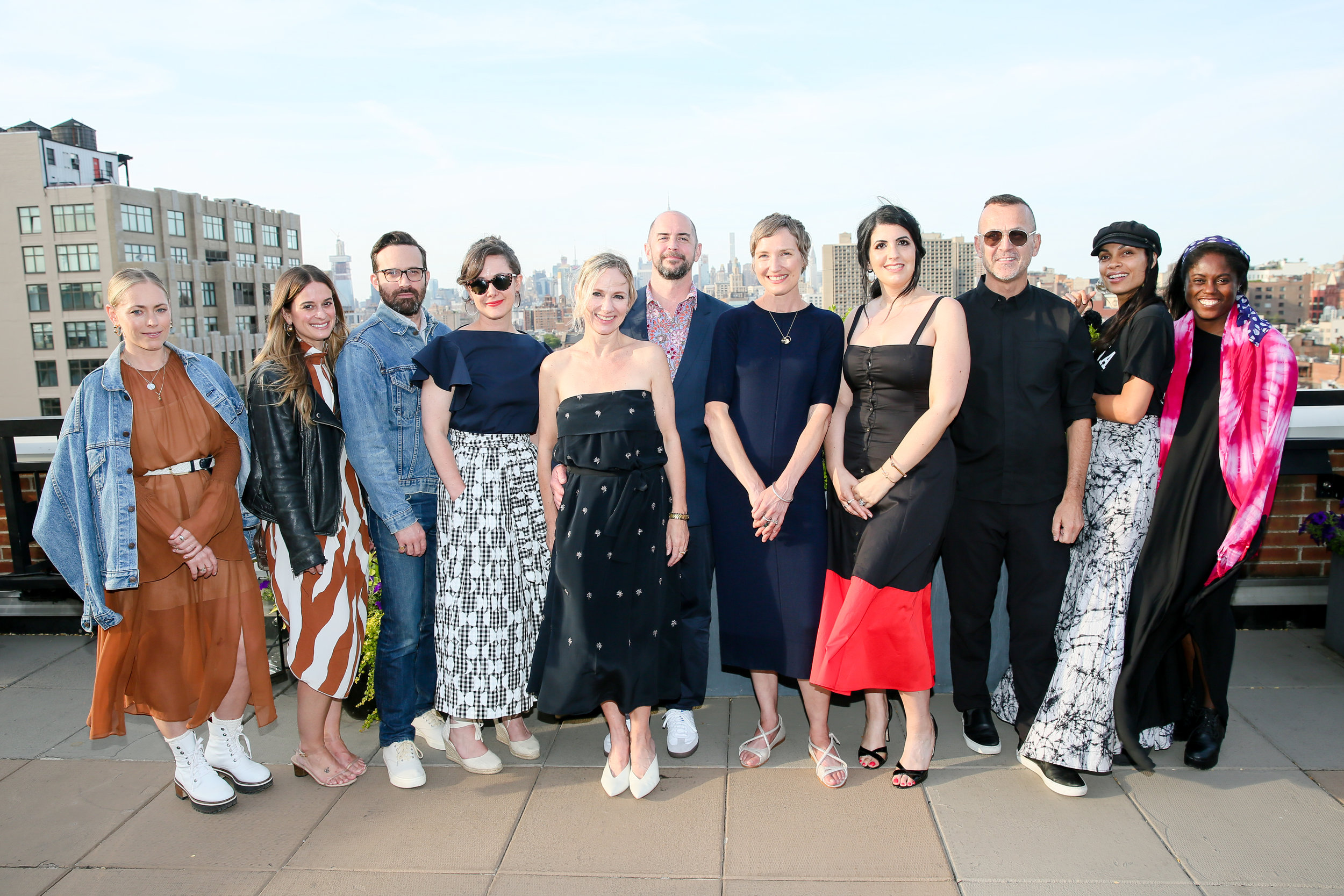 The  CFDA + Lexus Fashion* Initiative 2.0  Finalists ( Cienne ,  WHIT ,  St. Roche ,  M.Patmos  and  Studio 189  with Rachel Espersen and Steven Kolb.