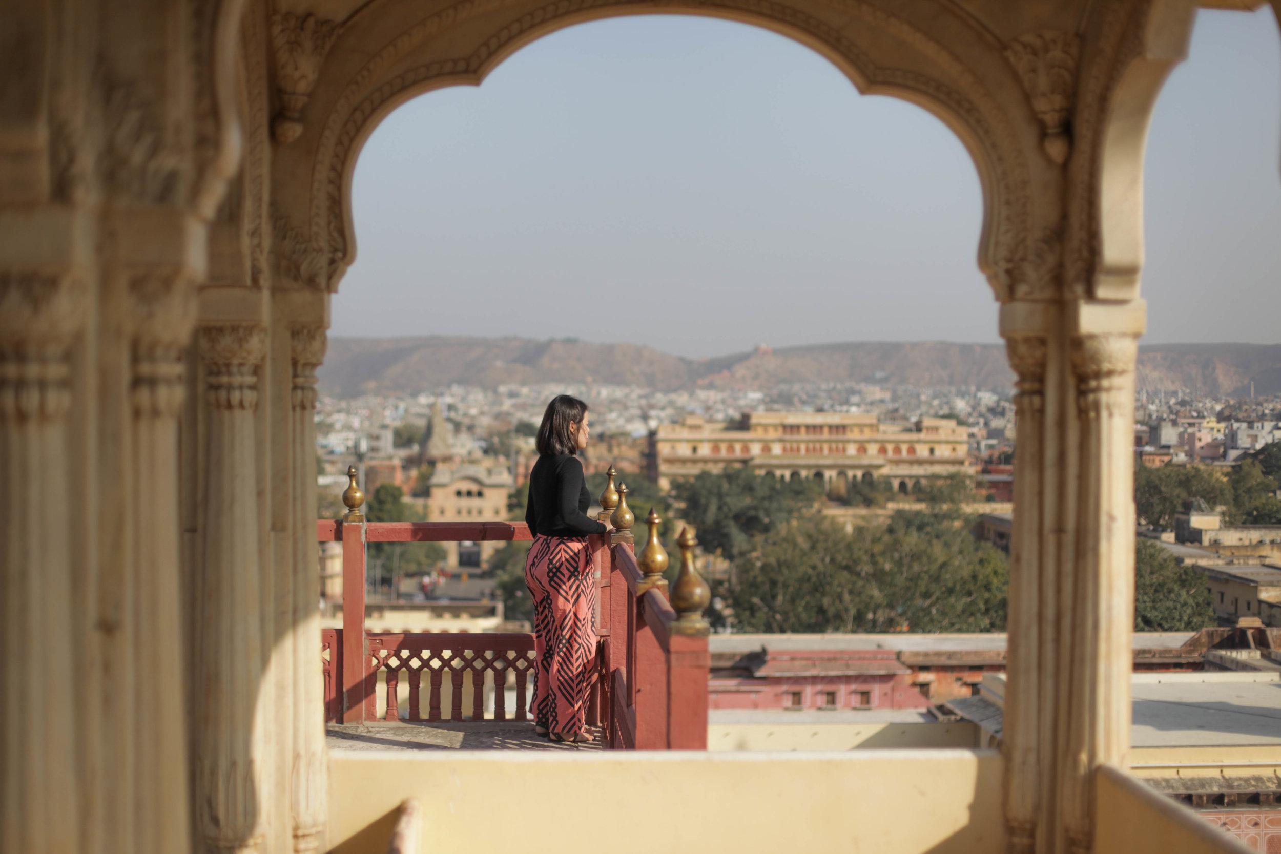 THE CLASSIC WIDELEG + LEHARIA WATERMELON PINK (ORGANIC)  in Jaipur, India.