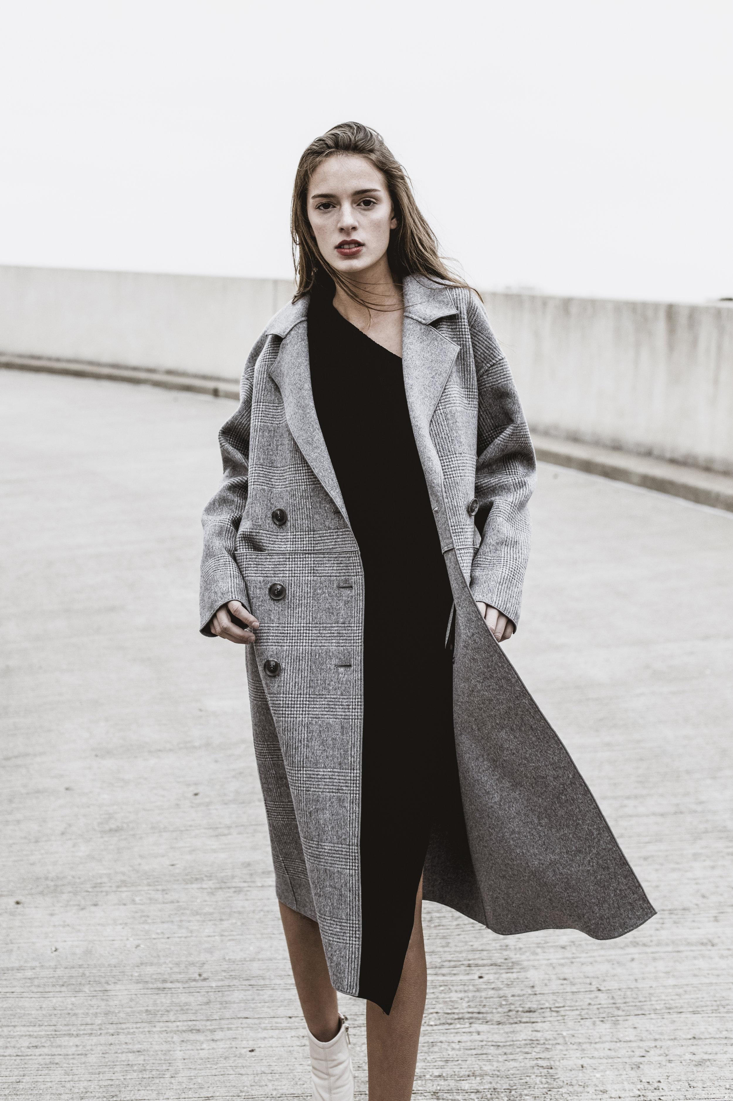Studio Cossac  coat, Trina Turk coat via  Rent the Runway ,  SVDP Madison  boots