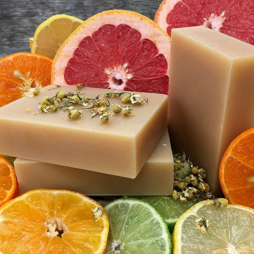 Chamomile and Citrus organic shampoo bar, photo courtesy of  Chagrin Valley Soap .
