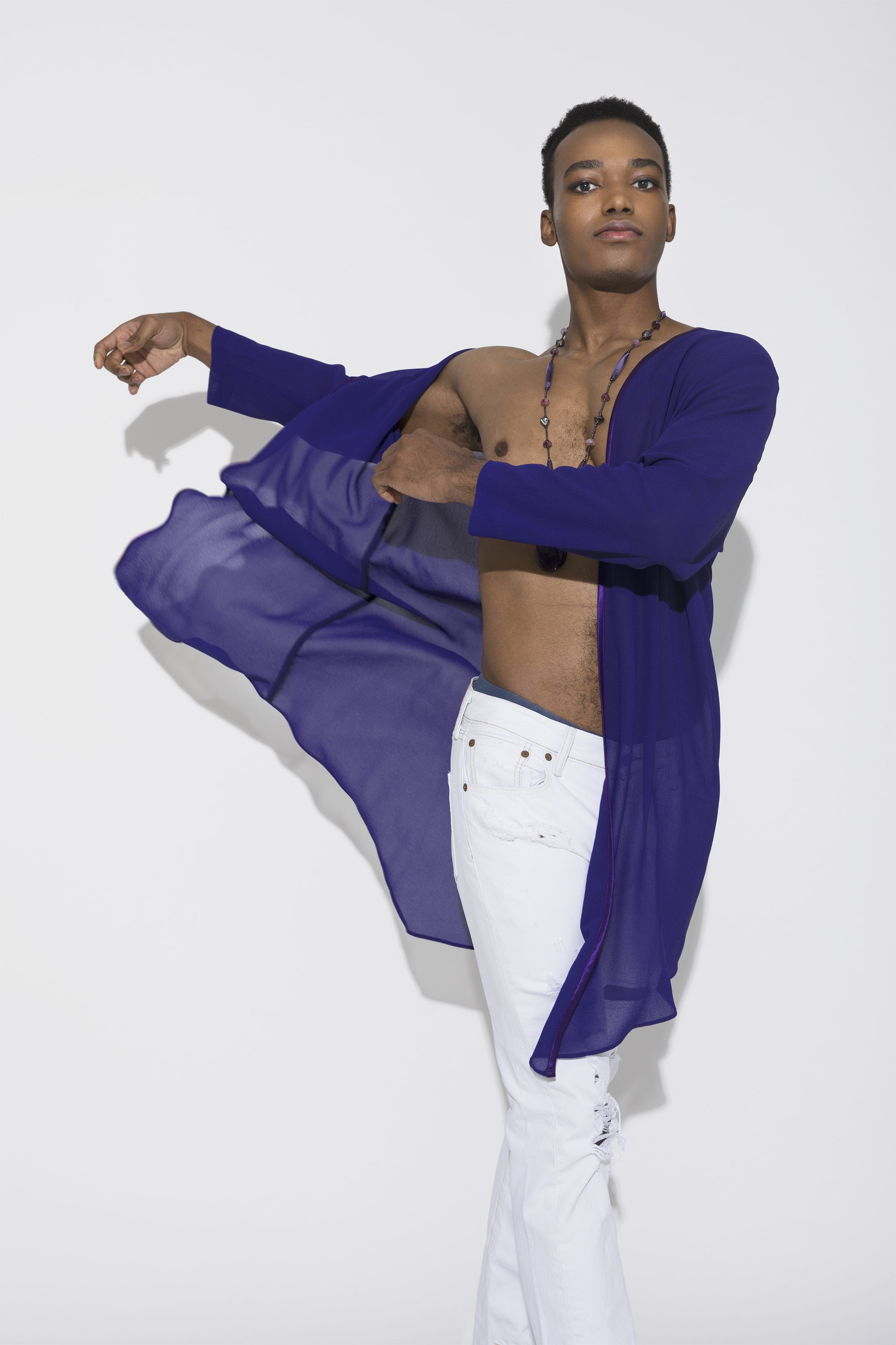"""While Prince's style played with the  ideas of gender, sexuality and their intersectionality with race  throughout his career, it was not unti 1984, when """"Purple Rain"""" was released that the artist became identified with the rich color, signifying royalty and mysticism."""
