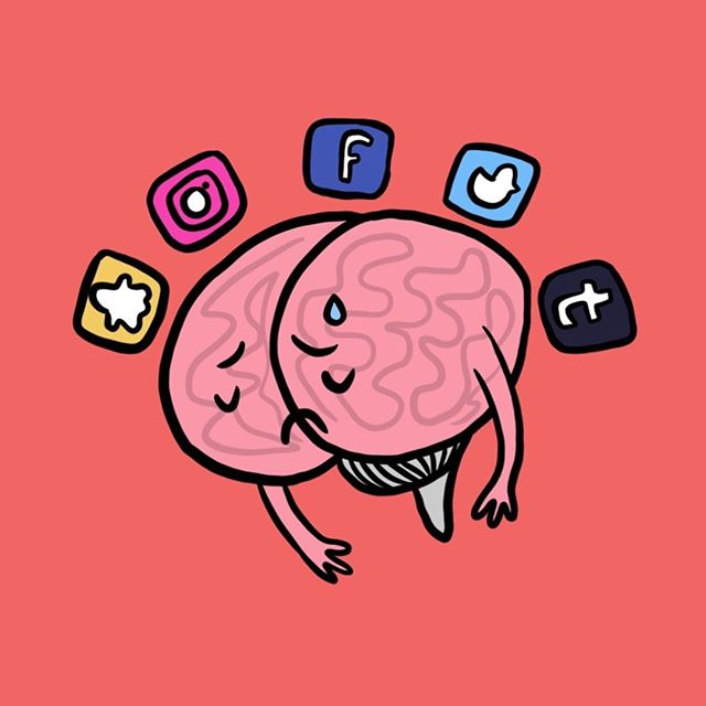What is Digital Minimalism? And how does it play into our #mentalhealth online? Our staff writer @afro_punkprincess wrote about what it means to be a minimalist through #socialmedia 📲Check our #linkinbio for more on this amazing new story on SUSTAIN now 🧠  Illustrations by @my hart_art