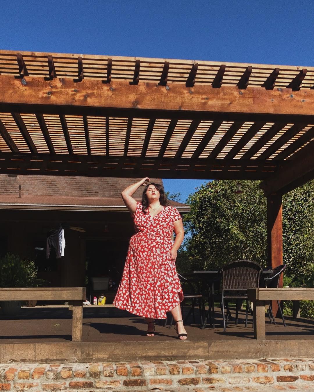 Sydney Grace wearing  Reformation.