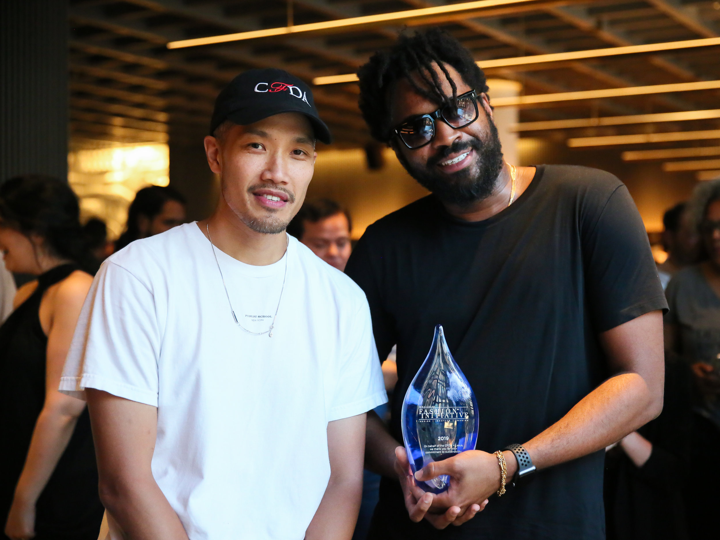 Dao-Yi Chow + Maxwell Osborne, founders of Public School and winners of the 2019 CFDA + Lexus Fashion* Initiative 3.0