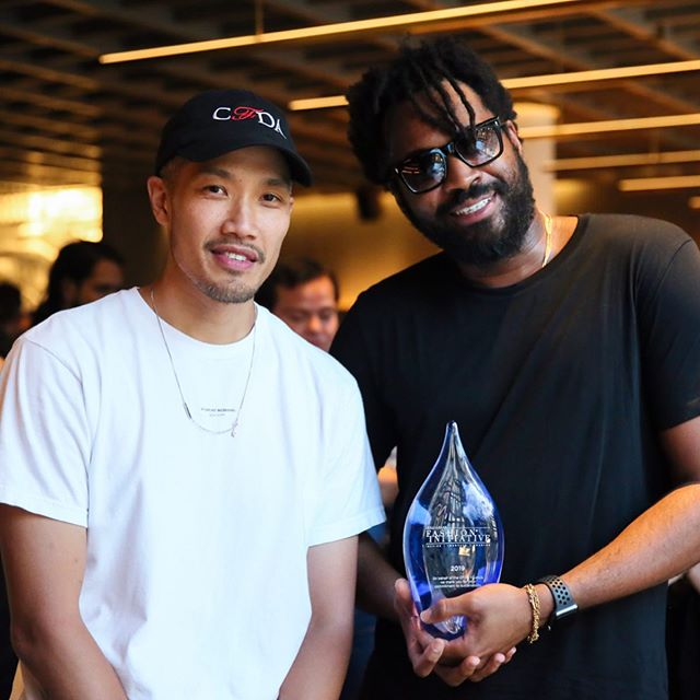 A huge congratulations to the sustainable menswear brand @publicschoolnyc who were the winners of the 2019 CFDA + Lexus Fashion Initiative program. Staff writer @caitlin.ruggero details the winning night and the menswear brand in the latest for SUSTAIN. Check the #linkinbio for the full story. 📸 c/o @bfa