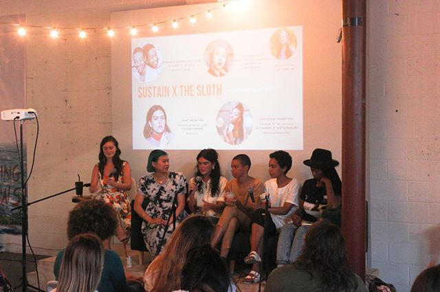 Thank you to everyone who attended SUSTAIN x @theslothnyc Sustainability on a Budget Panel. In case you missed out summer soirée hosted @thecanvasbyq then head over to our #linkinbio for some amazing talking points on how to introduce this lifestyle with zero to low cost ♻️ Huge thank you to our lovely panelists @mianne.chan @dominiquedrakeford @wearilive @celsious_social @joyytootheworld 💗 📸 @sambaselice