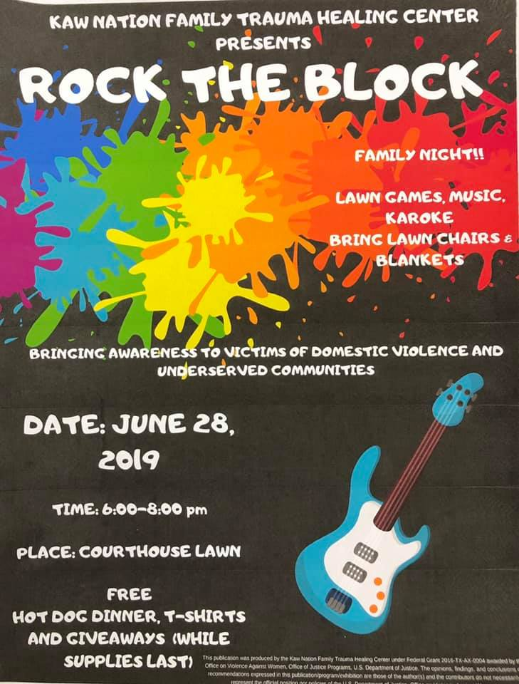 Kaw Nation Family Trauma Healing Center Rock the Block Domestic Violence