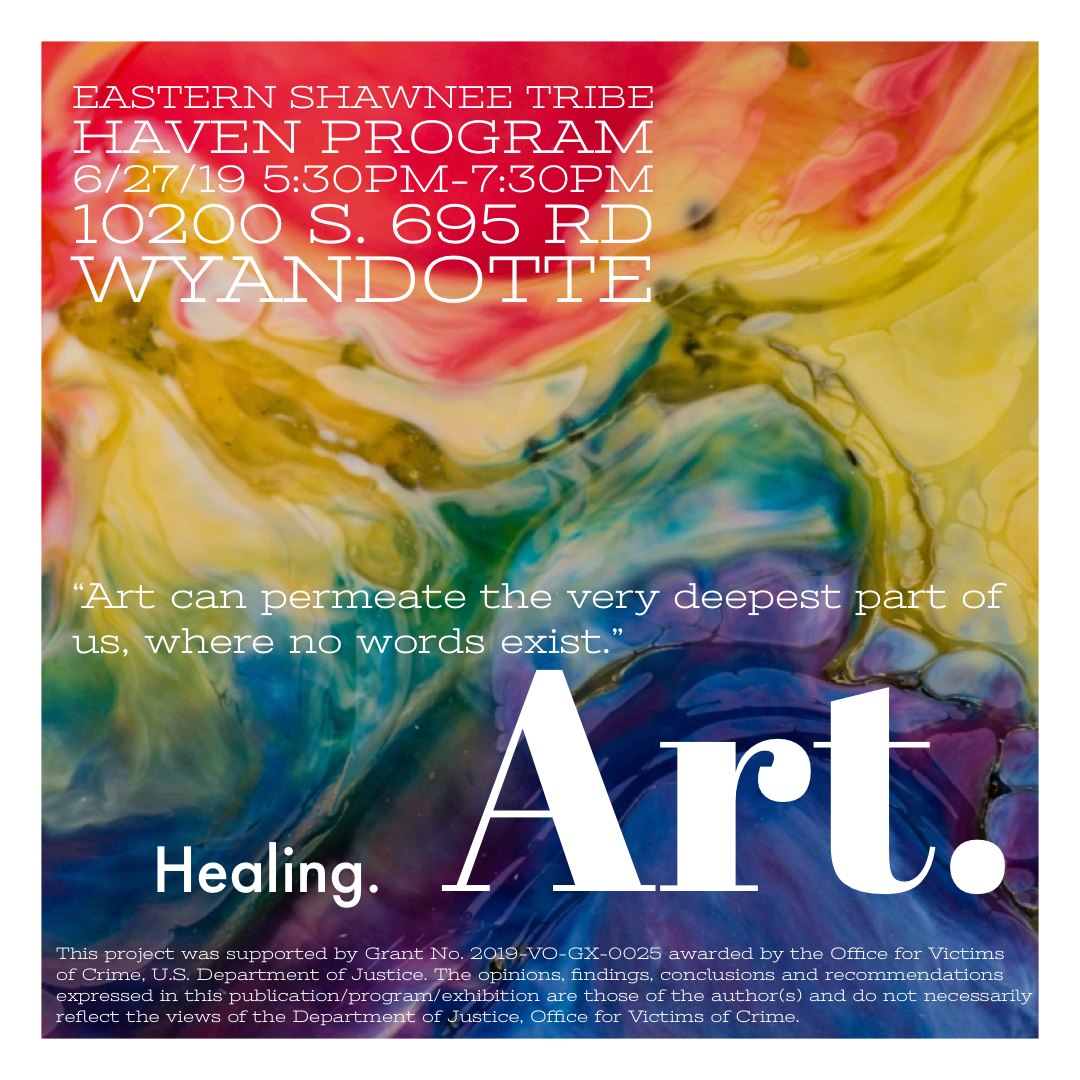 Healing Art Support Group: Eastern Shawnee Tribe HAVEN Program