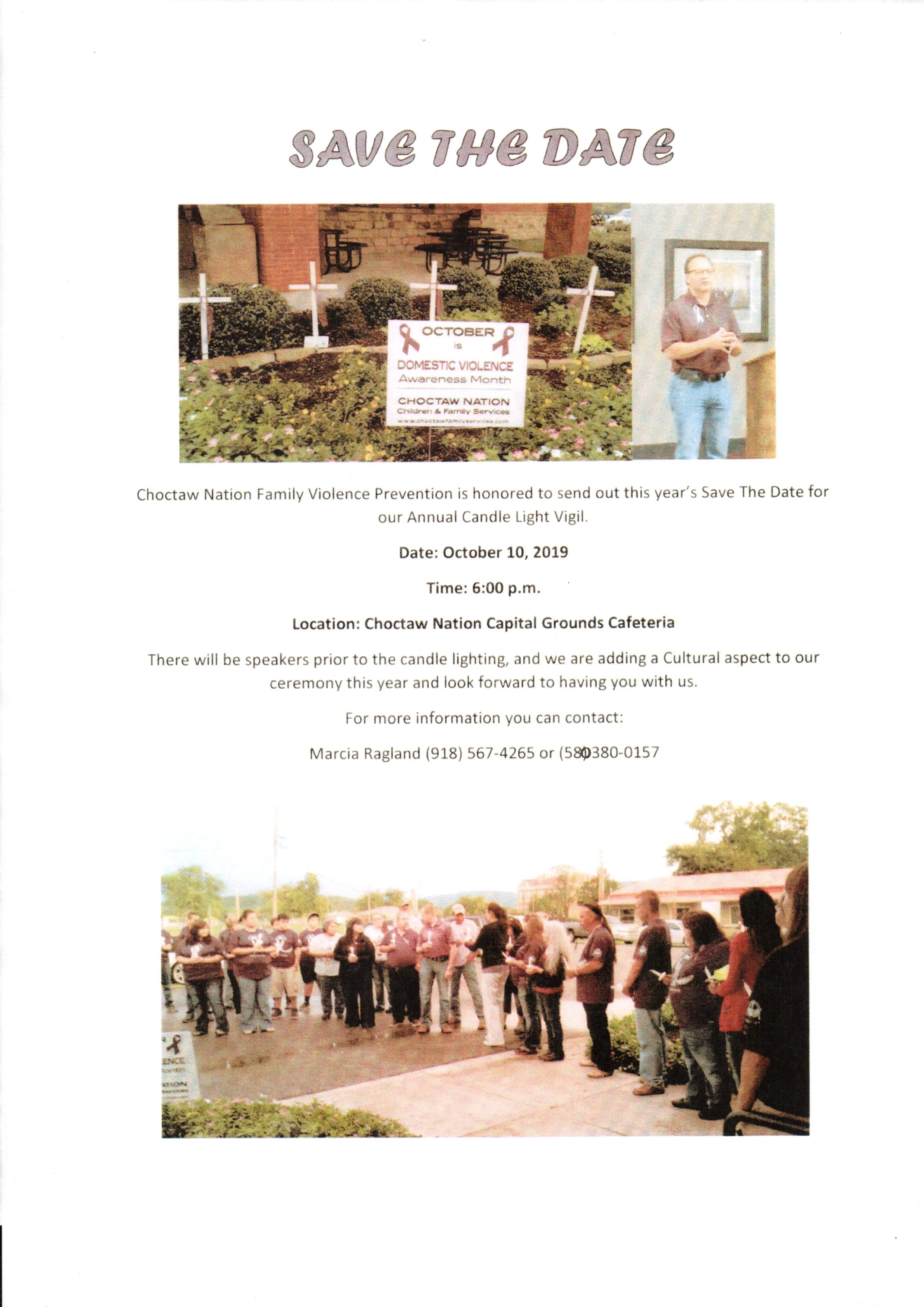 Choctaw Nation Family Violence Prevention Candle Light Vigil