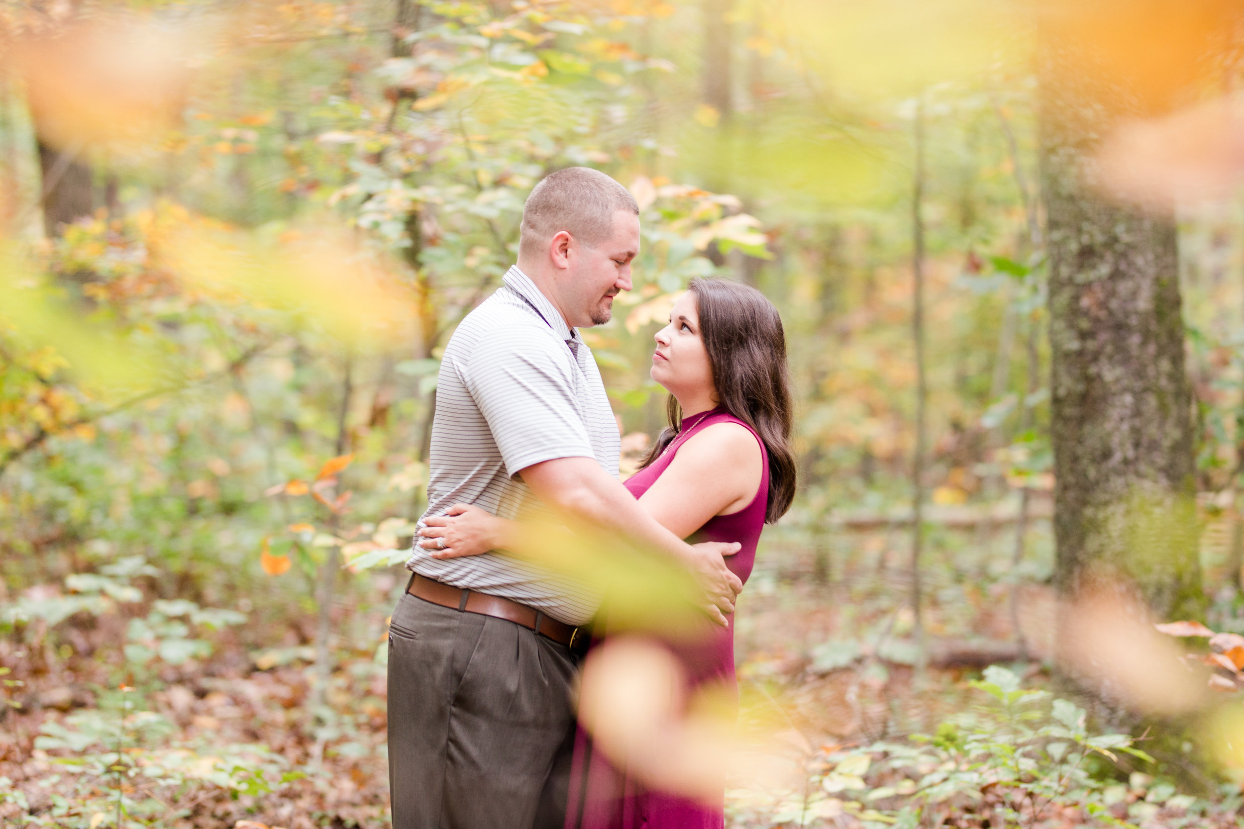 fall forest engagement session