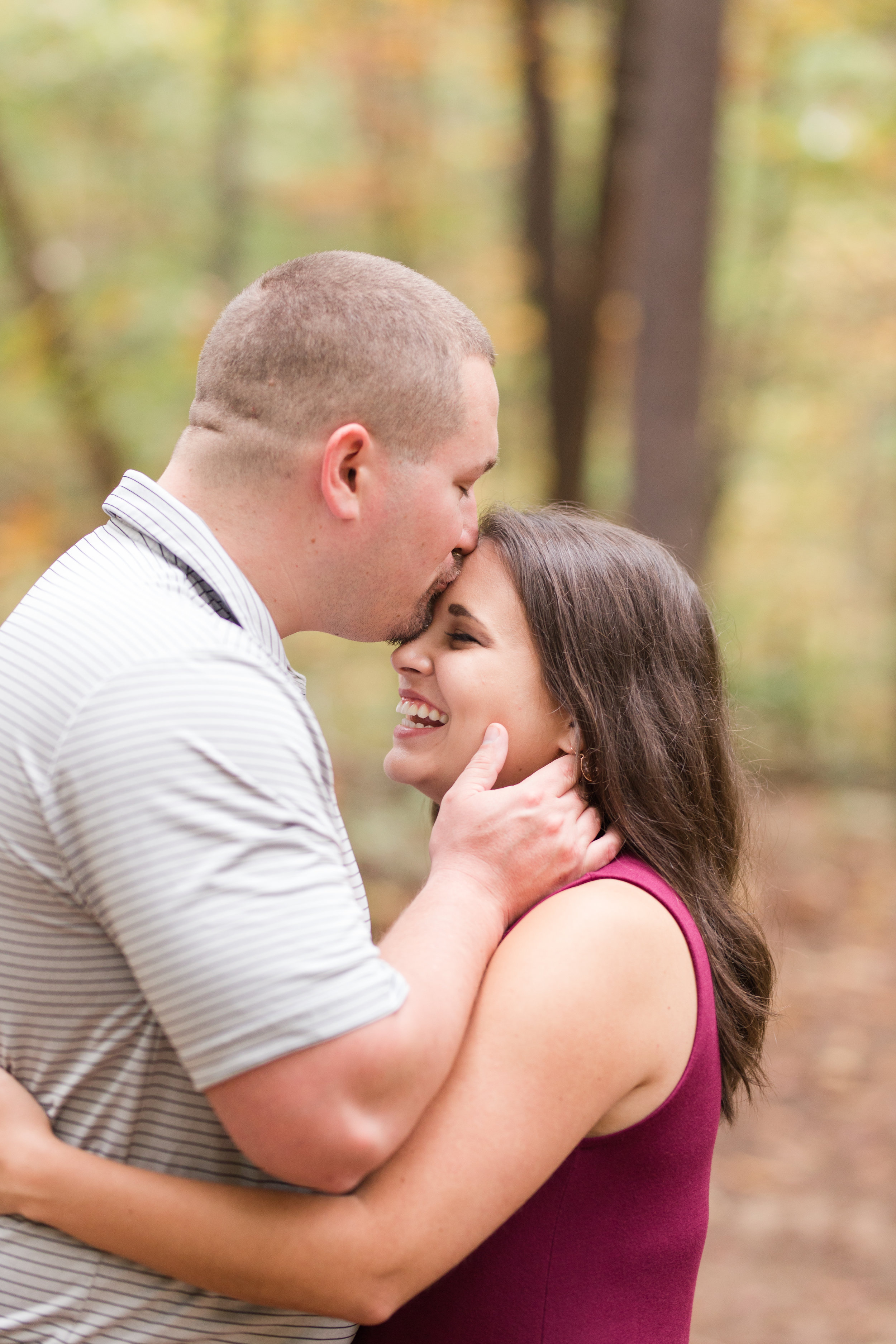 warrenton, va, engagement session, fall forest