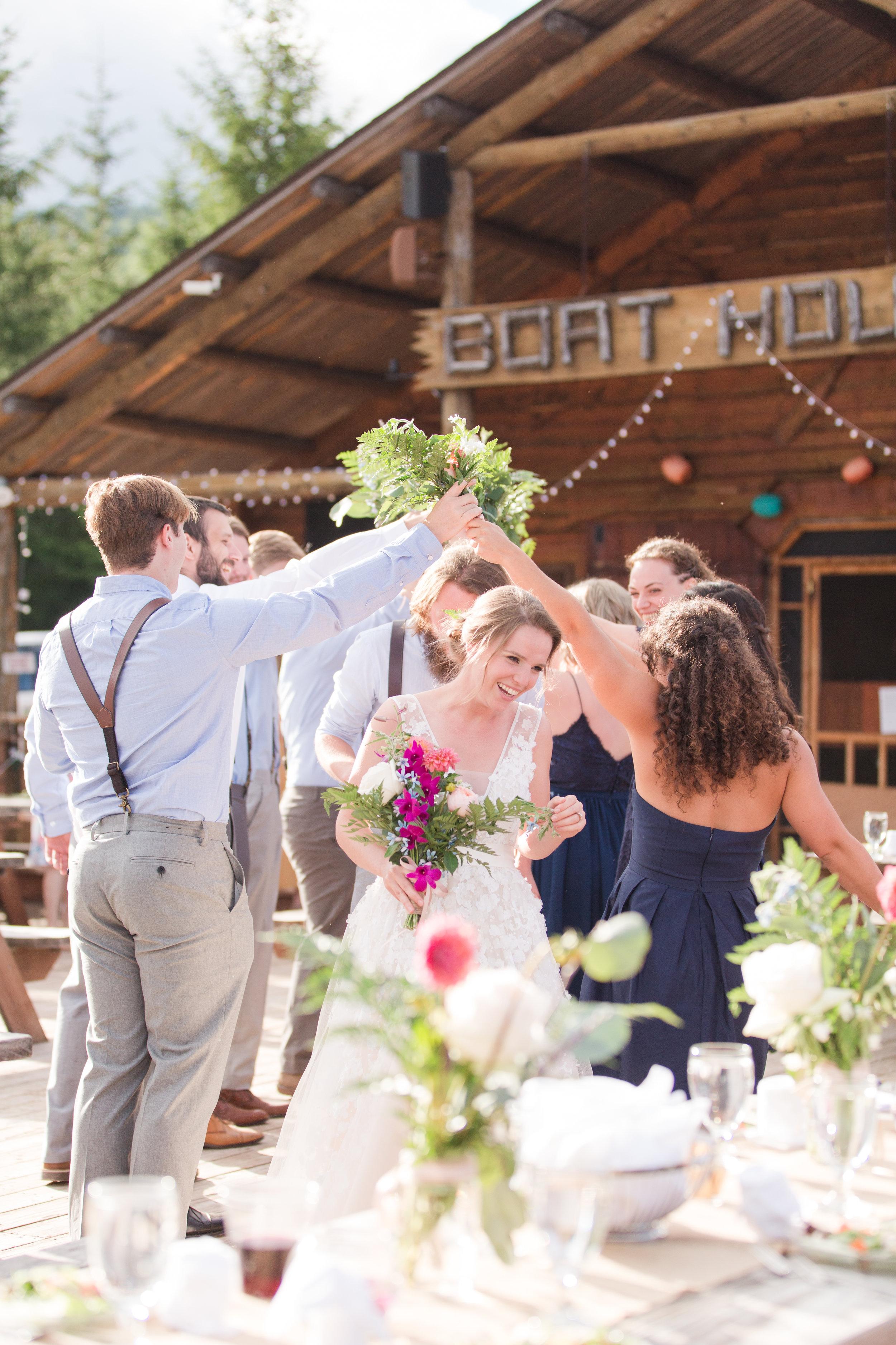 grand entrance, wv wedding