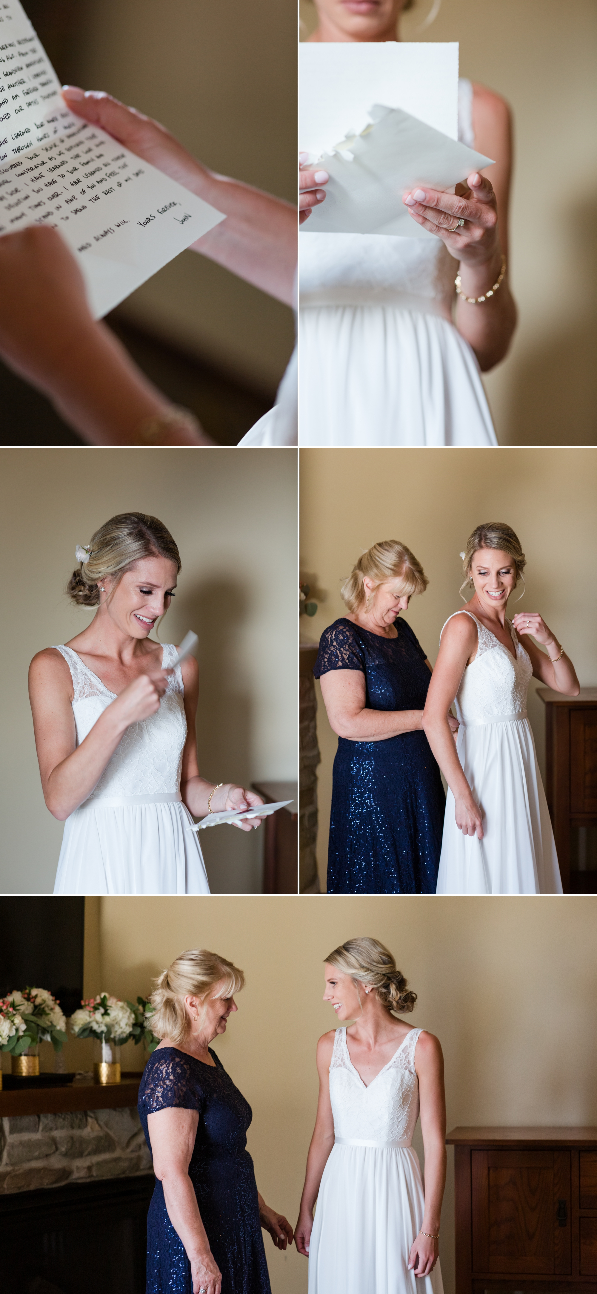 mom and daughter before wedding, snowshoe resort, wv, pre-wedding love notes