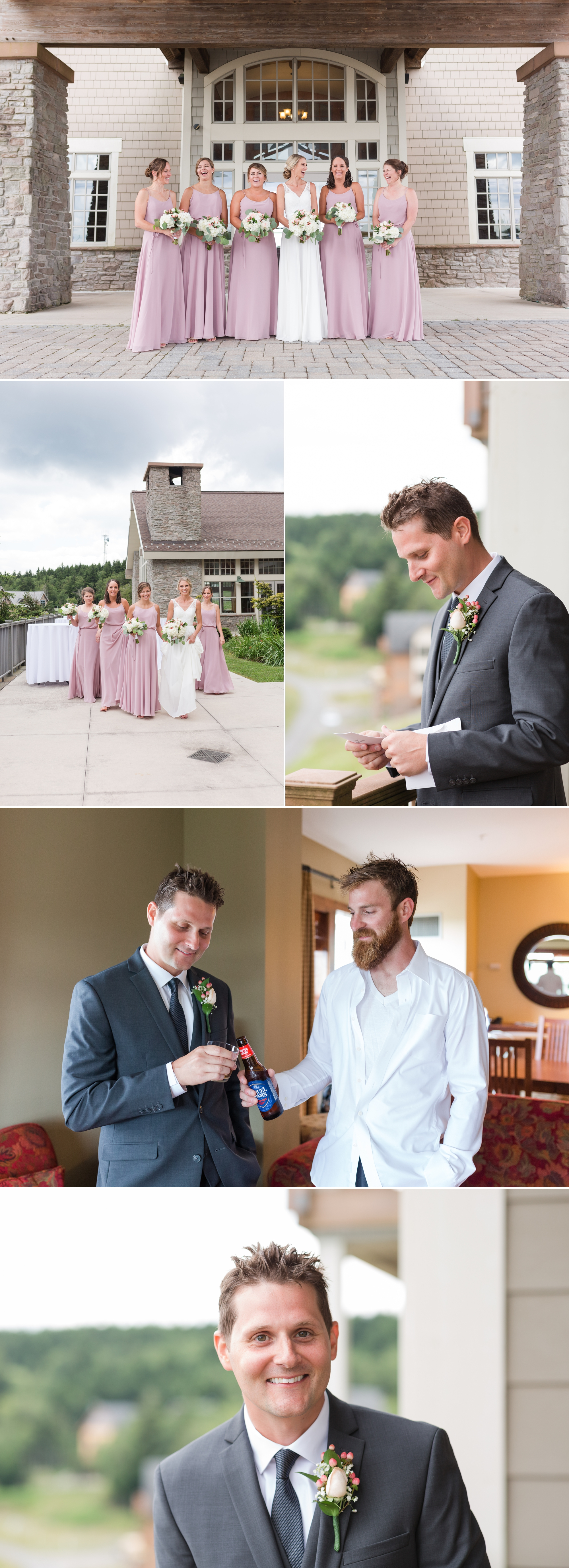 bridal party blog collage
