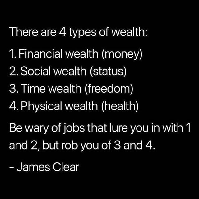 I'm aiming for each type of wealth. When you know your value, you don't take substitutes. ° ° Which ones are important to you?° ° Don't forget to click the link in my bio for your  Business Bundle.