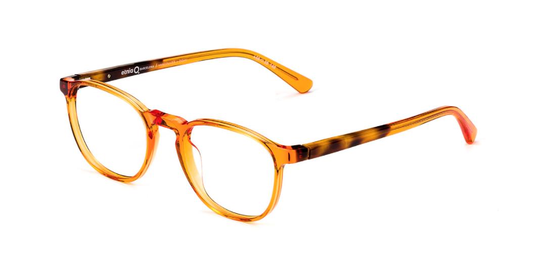 Etnia orange eyeglasses