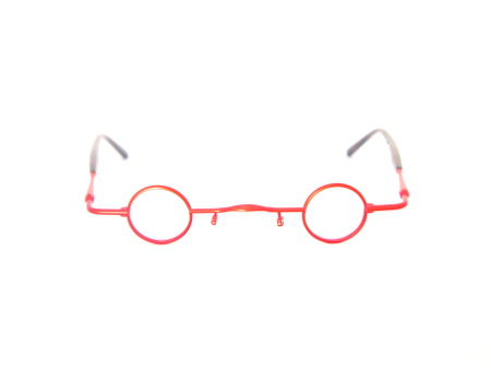 Round Red Eyeglasses Traction Productions