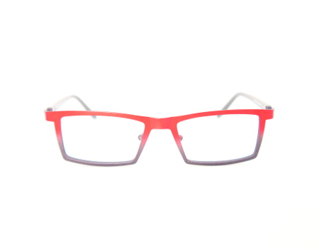 Mens Red Eyeglasses Traction Productions