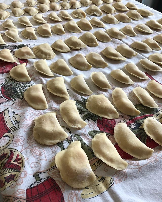 107 Perogies with @mcclatchey.julie.  Done!!!